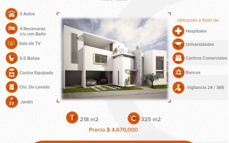 Foto de casa en venta en 1 1, alta vista, san andrés cholula, puebla, 1633028 no 01
