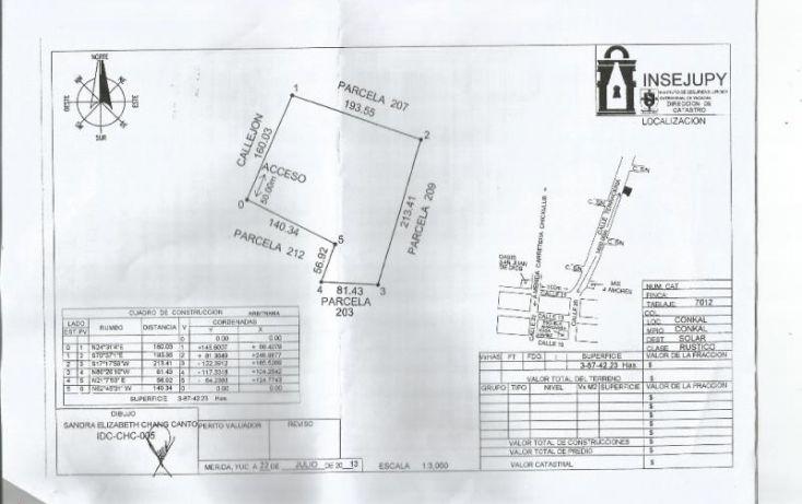 Foto de terreno habitacional en venta en 1 1, conkal, conkal, yucatán, 1937456 no 01