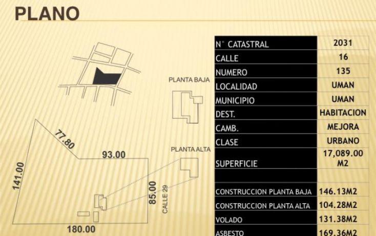 Foto de terreno habitacional en venta en 1 1, miguel hidalgo, umán, yucatán, 1987166 no 05