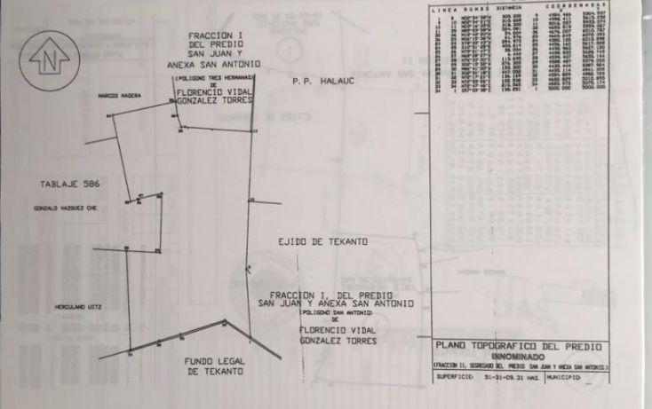Foto de terreno industrial en venta en 1 1, tekanto, tekantó, yucatán, 1986698 no 02