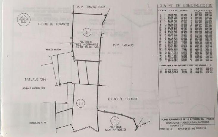 Foto de terreno industrial en venta en 1 1, tekanto, tekantó, yucatán, 1986698 no 05