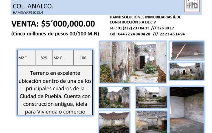 Foto de terreno habitacional en venta en  1, barrio de analco, puebla, puebla, 1995300 No. 09