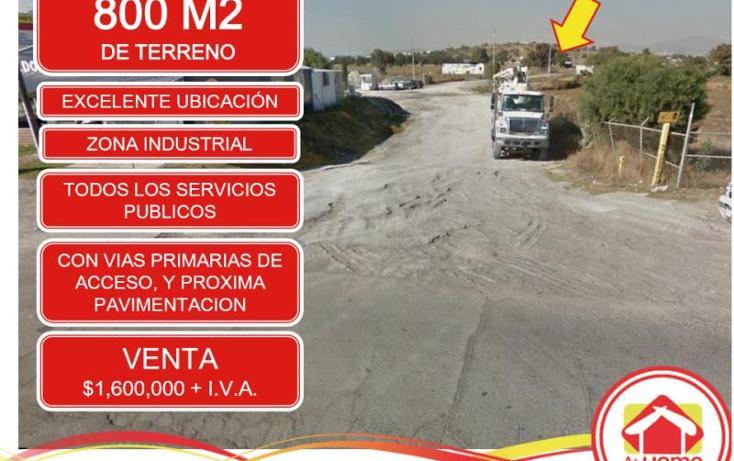 Foto de terreno industrial en venta en  1, el saucillo, mineral de la reforma, hidalgo, 1388325 No. 01