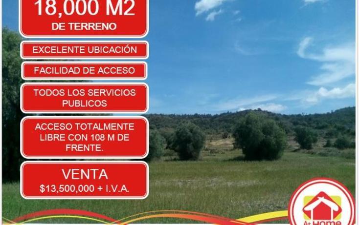 Foto de terreno comercial en venta en  1, el saucillo, mineral de la reforma, hidalgo, 1410253 No. 01
