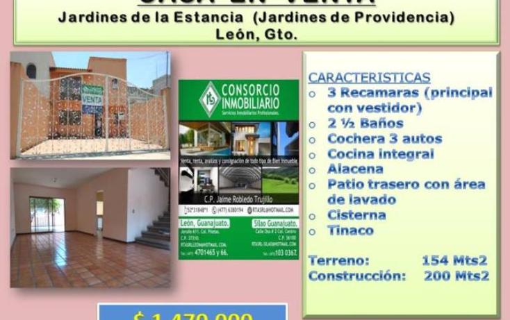 Foto de casa en venta en  1, jardines de providencia, le?n, guanajuato, 1849782 No. 01