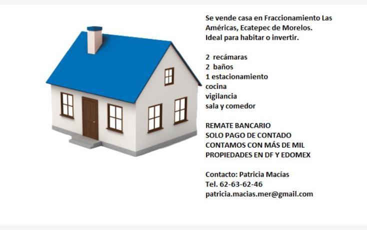 Foto de casa en venta en avenida simón bolivar 1, las américas, ecatepec de morelos, méxico, 2699717 No. 02
