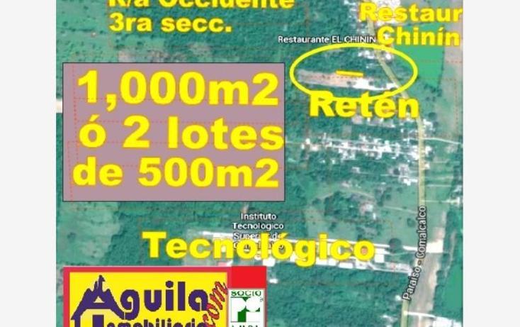 Foto de terreno habitacional en venta en  1, occidente 3a sección, comalcalco, tabasco, 1649634 No. 01