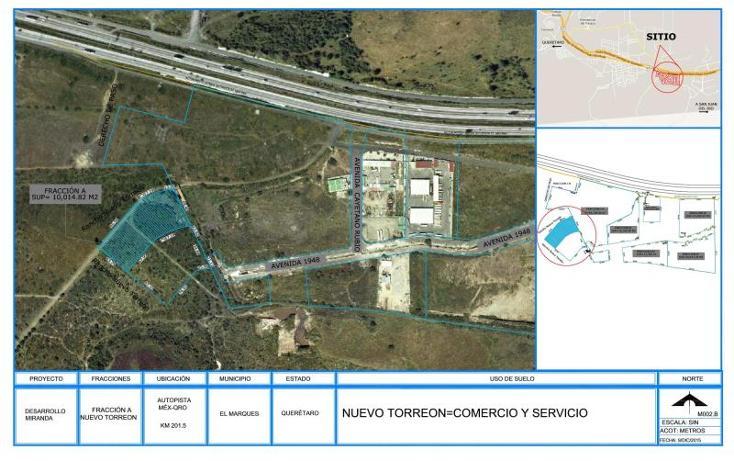 Foto de terreno comercial en venta en fracción nuevo torreón 1, paseos del marques, el marqués, querétaro, 1569102 No. 01