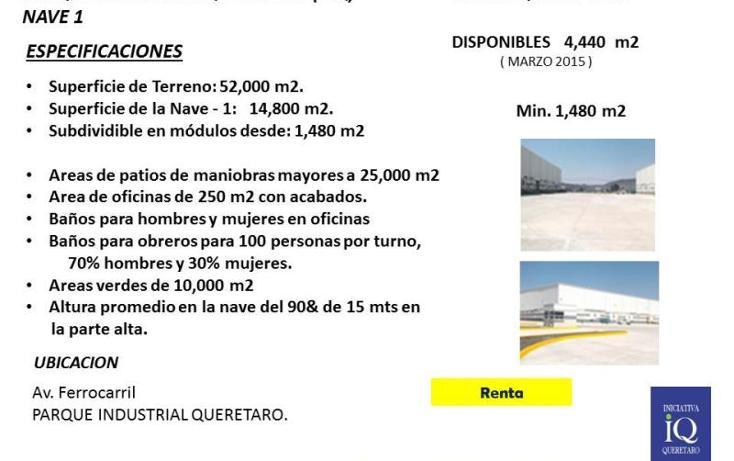 Foto de nave industrial en renta en  1, querétaro, querétaro, querétaro, 754143 No. 01