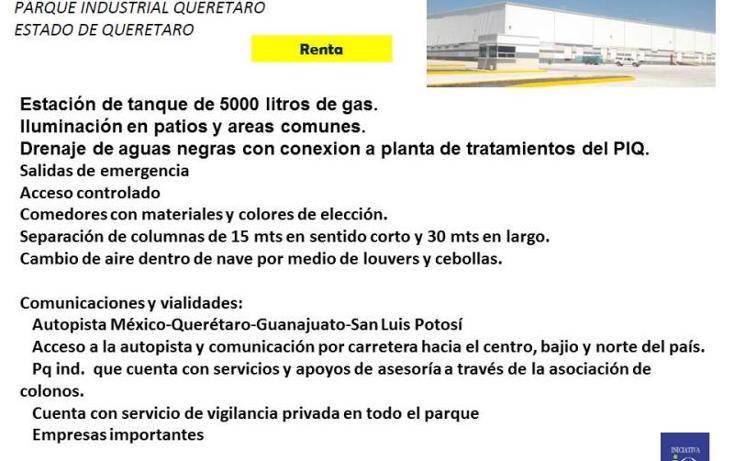 Foto de nave industrial en renta en  1, querétaro, querétaro, querétaro, 754143 No. 04