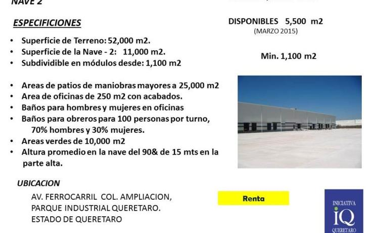 Foto de nave industrial en renta en  1, querétaro, querétaro, querétaro, 754145 No. 01