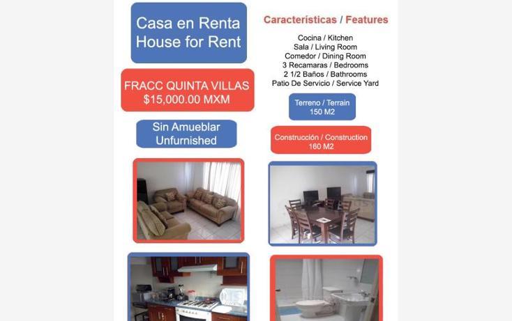 Foto de casa en renta en  1, quinta villas, irapuato, guanajuato, 1806300 No. 01