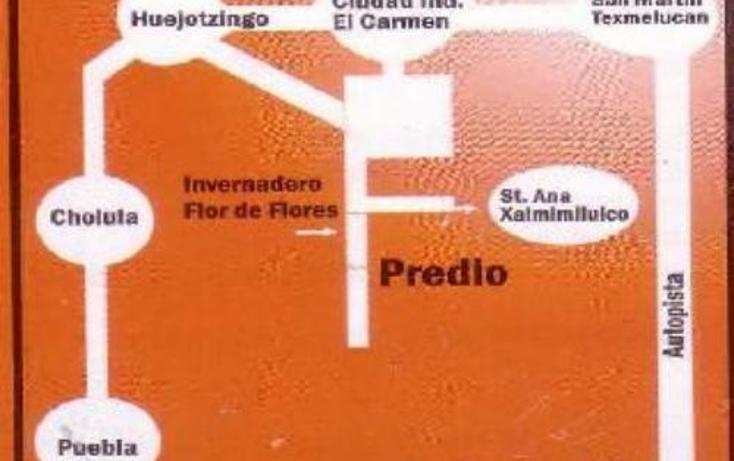 Foto de terreno habitacional en venta en  1, santa ana xalmimilulco, huejotzingo, puebla, 768333 No. 04