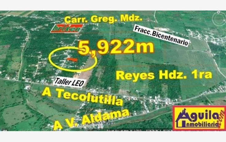 Foto de terreno habitacional en venta en  1, sur, comalcalco, tabasco, 999165 No. 01