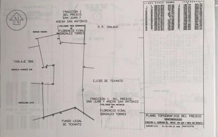 Foto de terreno industrial en venta en  1, tekanto, tekant?, yucat?n, 1986698 No. 02