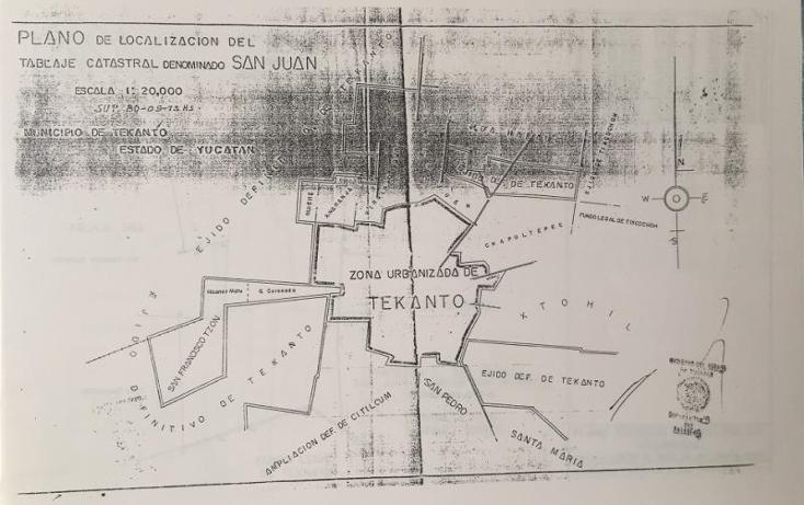 Foto de terreno industrial en venta en  1, tekanto, tekant?, yucat?n, 1986698 No. 04
