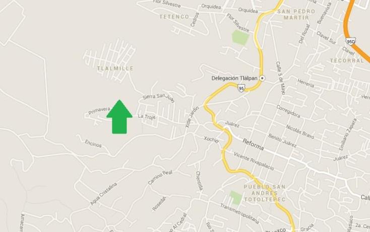 Foto de terreno comercial en venta en  1, tlalmille, tlalpan, distrito federal, 800495 No. 02