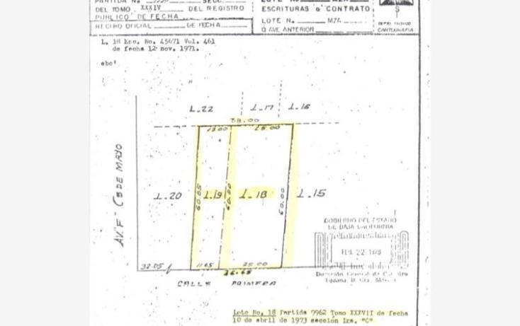 Foto de terreno habitacional en venta en  1, zona centro, tijuana, baja california, 972891 No. 02