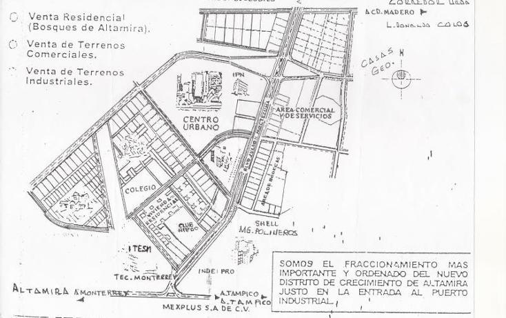 Foto de terreno industrial en venta en  100, altamira, altamira, tamaulipas, 858835 No. 01