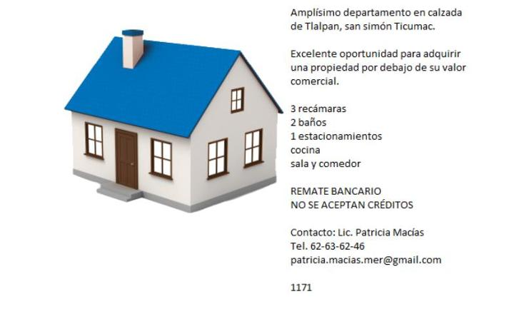 Foto de departamento en venta en calzada de tlalpan 1171, san simón ticumac, benito juárez, distrito federal, 2709188 No. 02