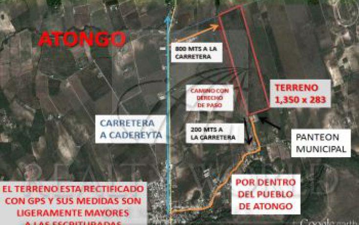 Foto de terreno habitacional en venta en 12345, atongo de abajo, cadereyta jiménez, nuevo león, 1756560 no 01