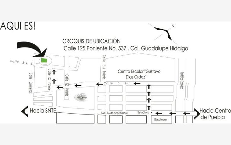 Foto de terreno habitacional en venta en 125 poniente 537, guadalupe hidalgo, puebla, puebla, 1700382 No. 02