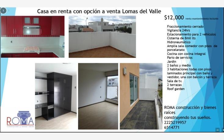 Foto de casa en renta en  136, lomas del valle, puebla, puebla, 1584144 No. 01