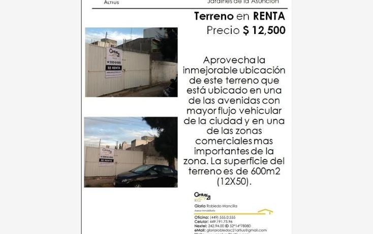 Foto de terreno comercial en renta en  1414, zona centro, aguascalientes, aguascalientes, 384970 No. 01