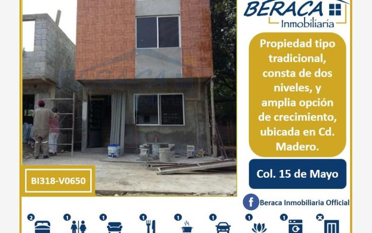 Foto de casa en venta en  , 15 de mayo, ciudad madero, tamaulipas, 1805864 No. 01