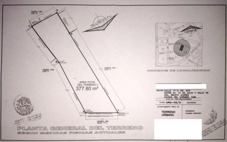 Foto de terreno habitacional en venta en 17a 244, benito juárez, carmen, campeche, 1612060 no 07