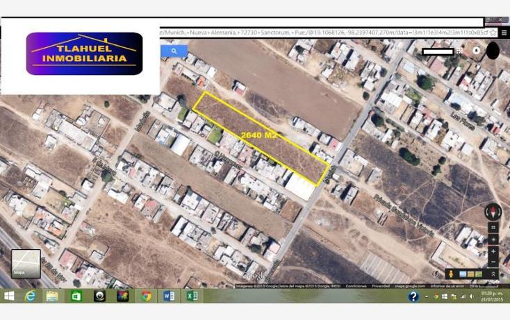 Foto de terreno habitacional en venta en  18, nueva alemania, cuautlancingo, puebla, 1464609 No. 02