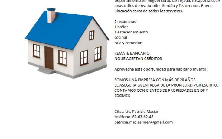Foto de departamento en venta en miguel lerdo de tejada 187, san mateo, azcapotzalco, distrito federal, 2703901 No. 02