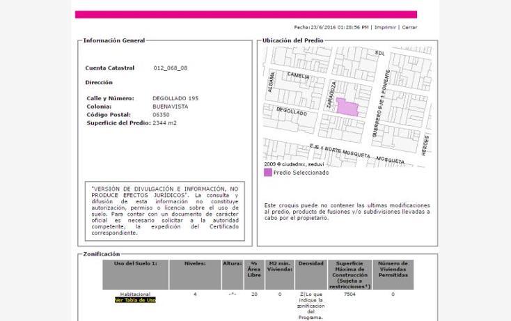 Foto de departamento en venta en  195, buenavista, cuauhtémoc, distrito federal, 2023690 No. 03