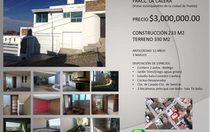 Foto de casa en venta en  20, la calera, puebla, puebla, 1612835 No. 01