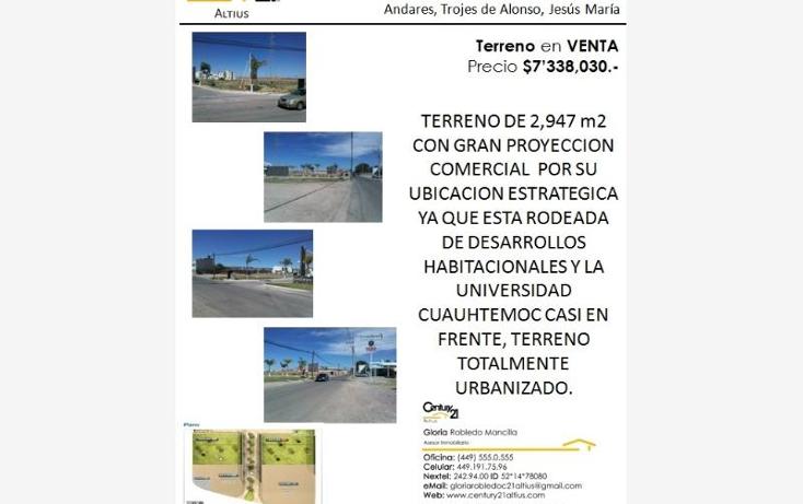 Foto de terreno comercial en venta en  205, zona centro, aguascalientes, aguascalientes, 403855 No. 01