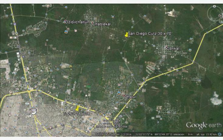 Foto de terreno habitacional en venta en 25 1, conkal, conkal, yucatán, 1752832 no 03