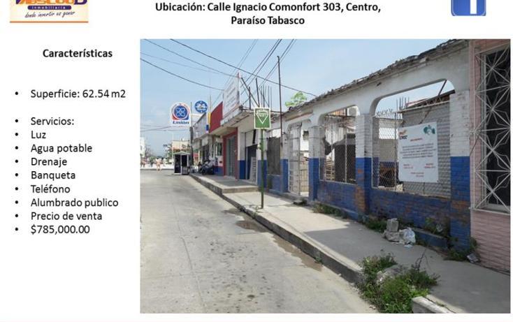 Foto de terreno comercial en venta en  303, paraíso centro, paraíso, tabasco, 2008264 No. 01
