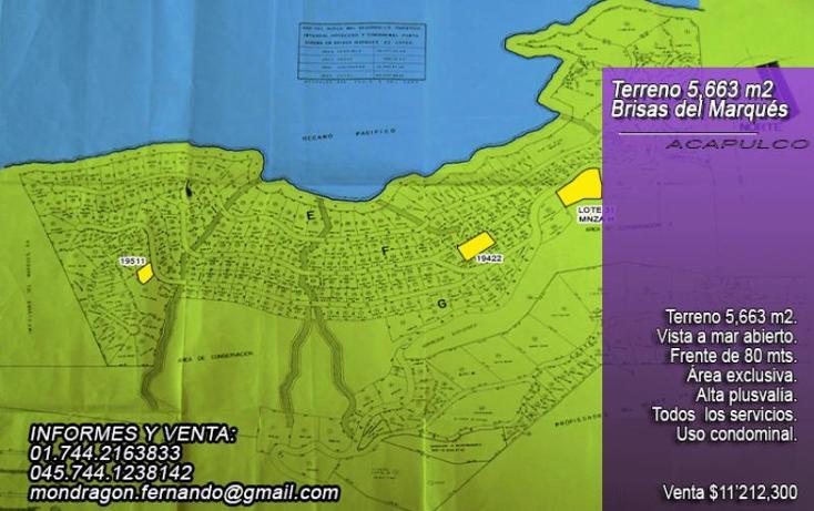 Foto de terreno habitacional en venta en  31, brisas del mar, acapulco de juárez, guerrero, 992781 No. 01