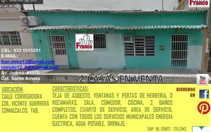 Foto de casa en venta en  316, vicente guerrero, comalcalco, tabasco, 1819532 No. 01