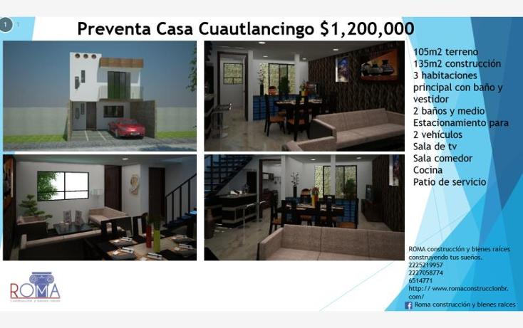 Foto de casa en venta en  31b, nuevo le?n, cuautlancingo, puebla, 1668726 No. 01