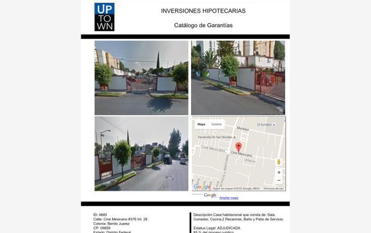 Foto de casa en venta en  376, benito juárez, iztapalapa, distrito federal, 1737658 No. 01