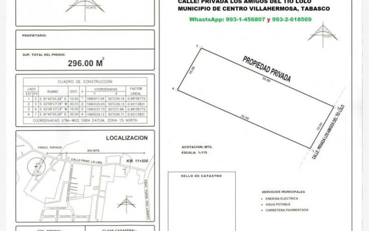 Foto de terreno habitacional en venta en  395,000 terreno privada los amigos del tio lolo la lima, la parrilla 2a secc la lima, centro, tabasco, 910355 no 10