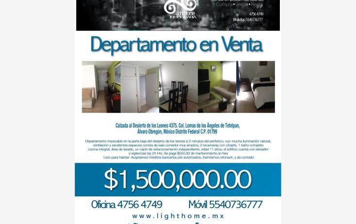 Foto de departamento en venta en  4375, tetelpan, álvaro obregón, distrito federal, 1595590 No. 18