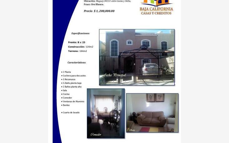 Foto de casa en venta en  4551, oro blanco, la paz, baja california sur, 1623122 No. 01