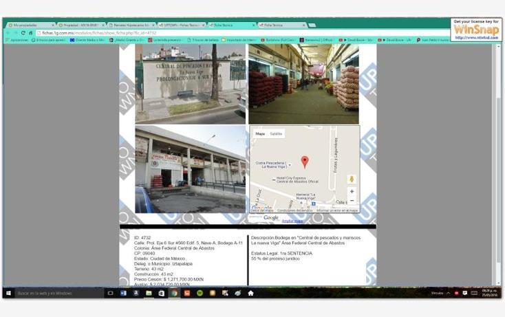 Foto de local en venta en  560, central de abasto, iztapalapa, distrito federal, 1594422 No. 01
