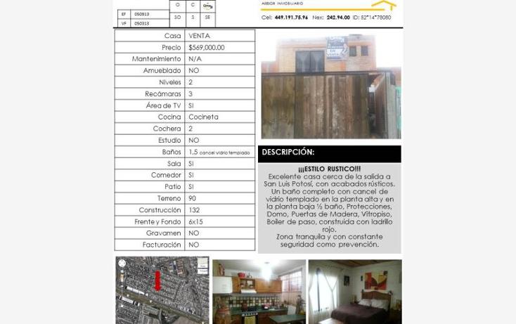 Foto de casa en venta en  613, jos? guadalupe peralta g?mez, aguascalientes, aguascalientes, 403843 No. 13