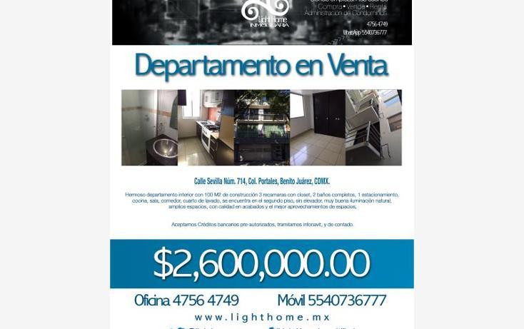 Foto de departamento en venta en  714, portales sur, benito juárez, distrito federal, 1670230 No. 07