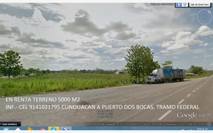 Foto de terreno habitacional en renta en  9, cunduacan centro, cunduacán, tabasco, 1609154 No. 01