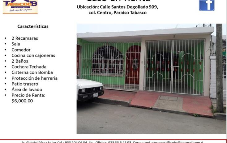Foto de casa en renta en  909, paraíso centro, paraíso, tabasco, 2025228 No. 01