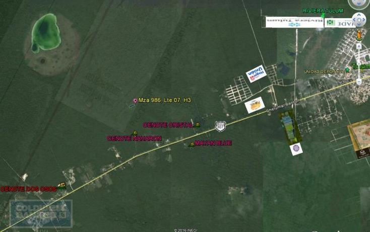 Foto de terreno habitacional en venta en  913, tulum centro, tulum, quintana roo, 1659895 No. 01